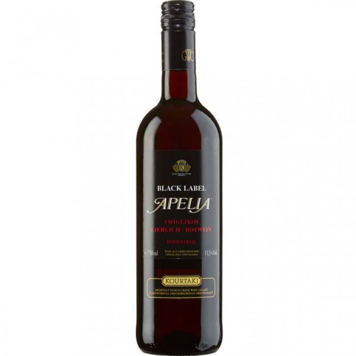 Imiglykos Rot Apelia Black Label (750ml) Kourtaki