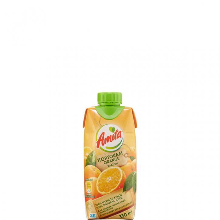 Orangenfruchtsaft 100% (330ml) Amita