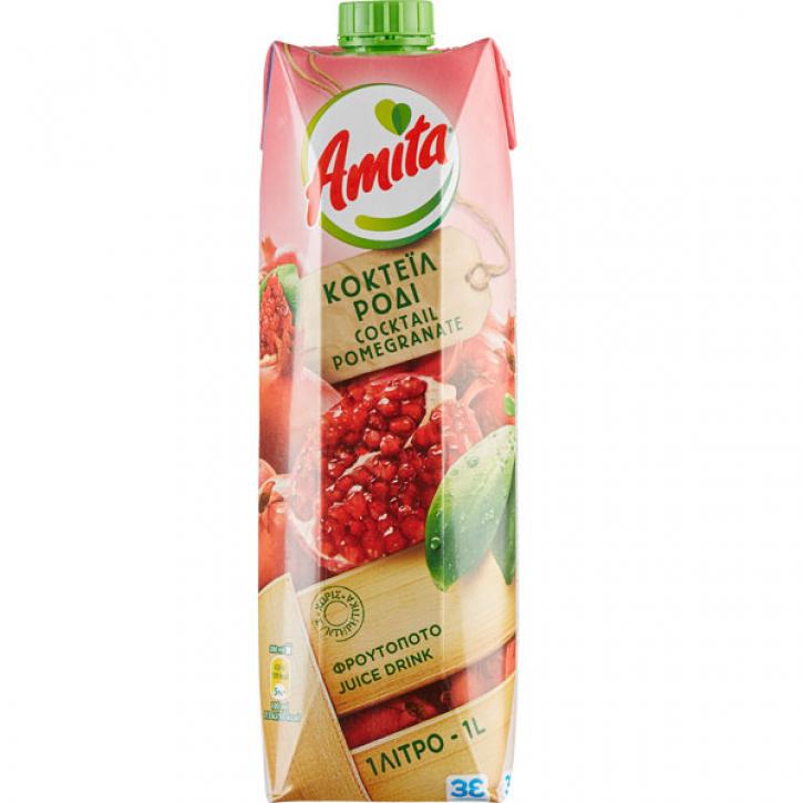 Granatapfel Mehrfruchtsaftgetränk 43% (1000ml) Amita