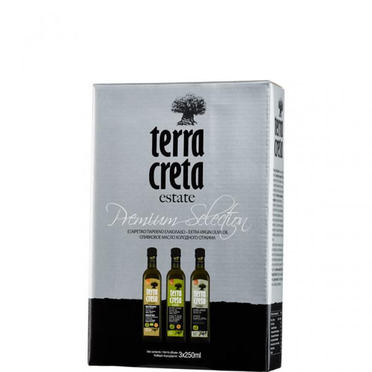 Olivenöl Kolymvari Geschenkbox (3 x 250ml) Terra Creta