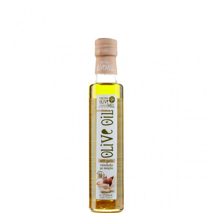 Olivenöl Extra Nativ mit Knoblauch (250ml) Cretan Olive Mill