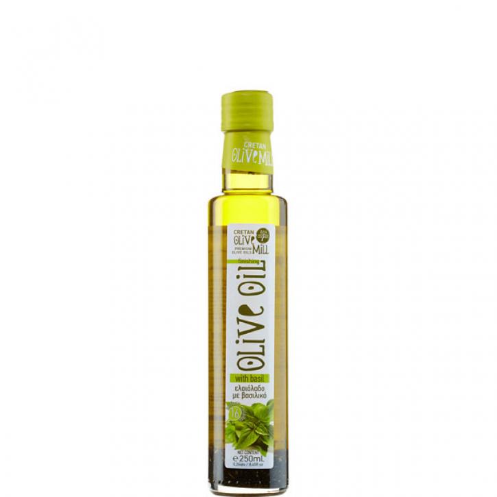 Olivenöl Extra Nativ mit Basilikum (250ml) Cretan Olive Mill