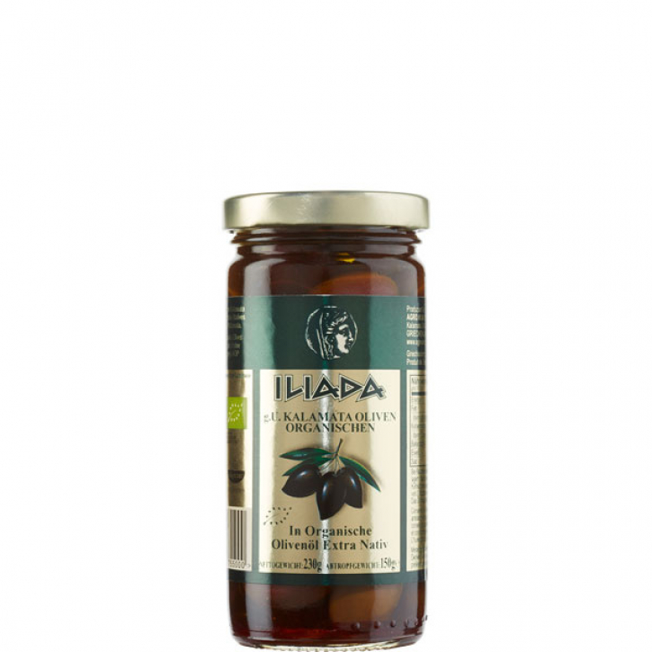 Oliven Kalamata in Olivenöl BIO (230g) Agro Vim