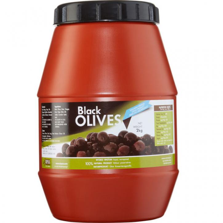 Oliven Super Colossal schwarz (1,8Kg) Tripsas