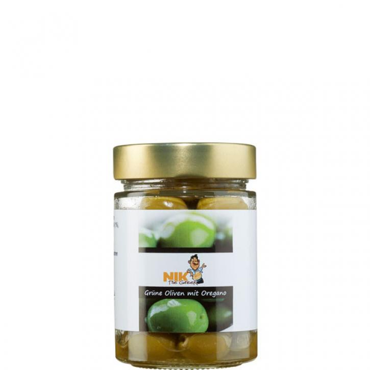 Oliven grün gewürzt (200g) NiktheGreek