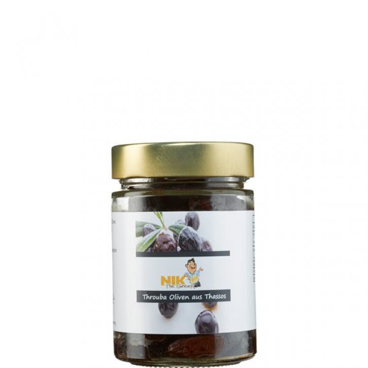 Oliven Thrumbas schwarz (200g) NiktheGreek