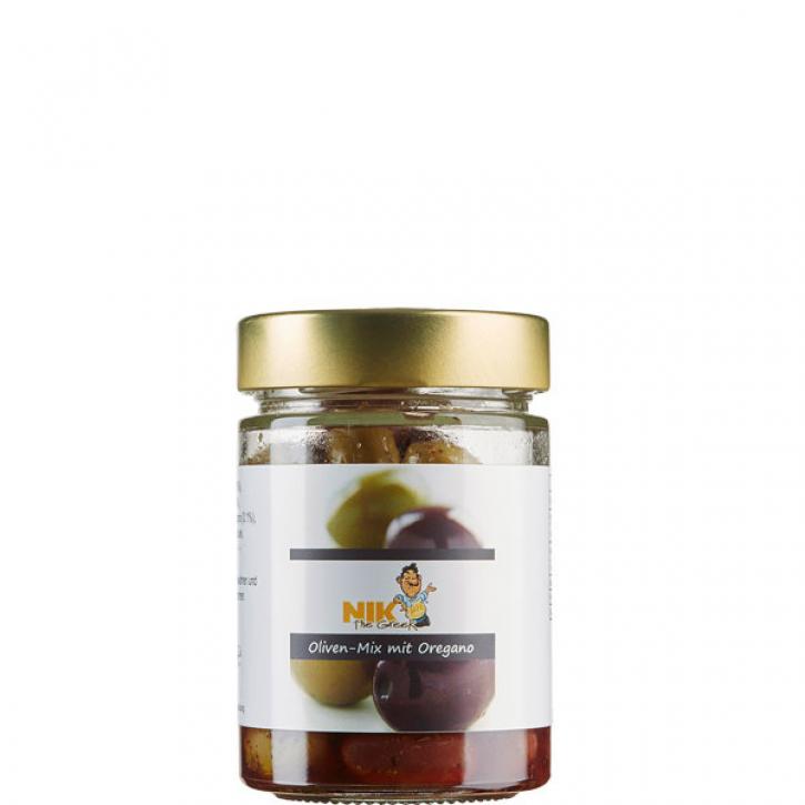 Oliven-Mix mit Oregano (200g) NiktheGreek