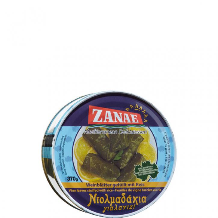 Weinblätter gefüllt mit Reis (370g) Zanae