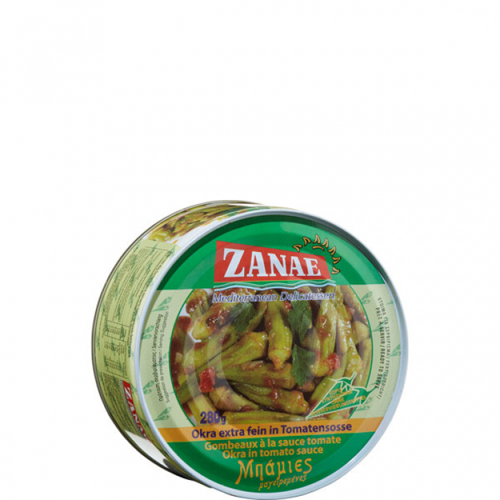 Okraschoten in Tomatensauce (280g) Zanae