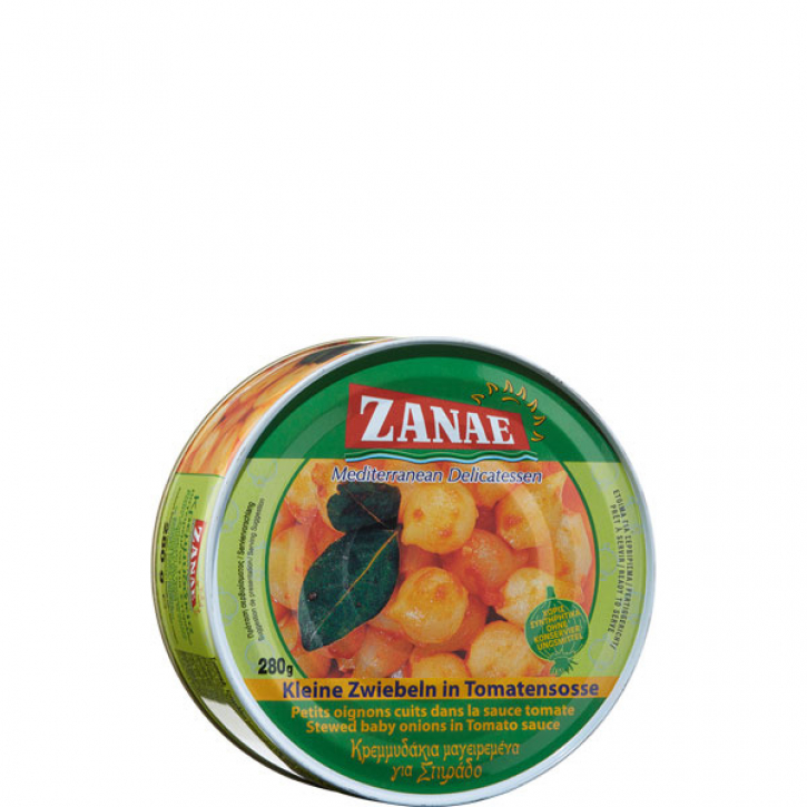 Zwiebelchen in Tomatensauce Stifado (280g) Zanae