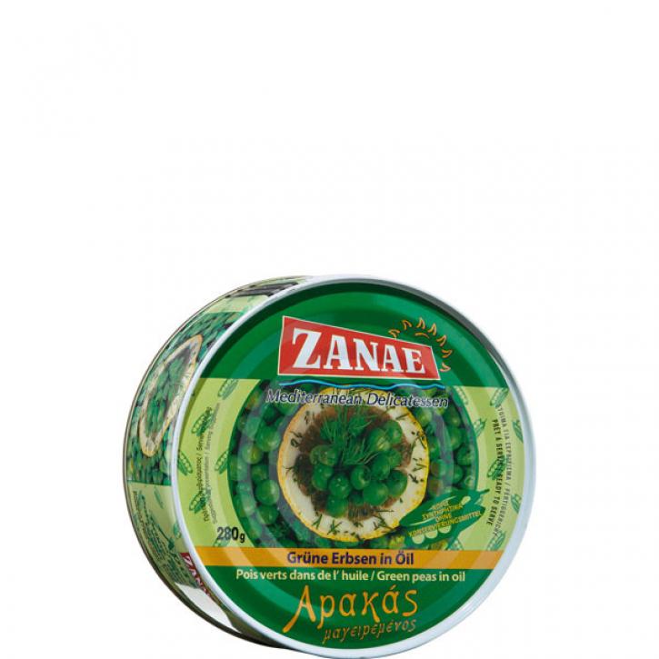 Grüne Erbsen in Öl Arakas (280g) Zanae