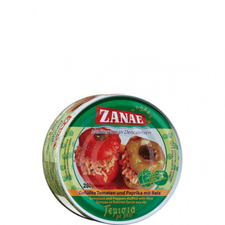 Gefüllte Tomaten und Paprika mit Reis (280g) Zanae