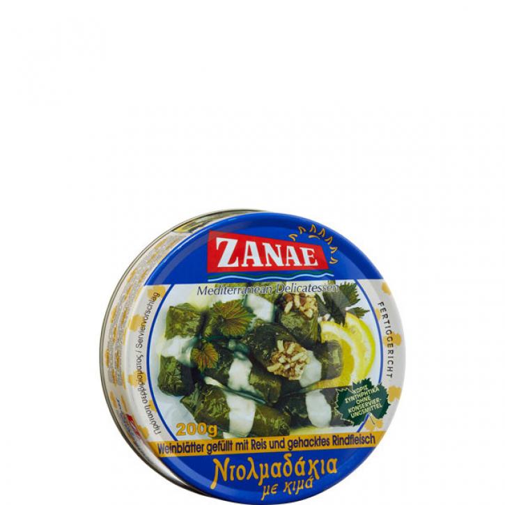 Weinblätter mit Reis/Hackfleisch (200g) Zanae