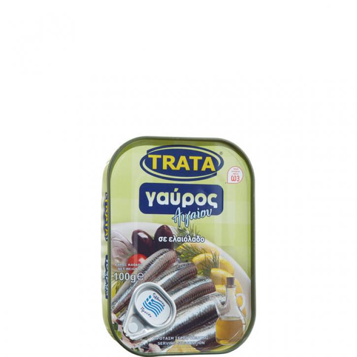 Sardellen in Olivenöl (100g) Trata