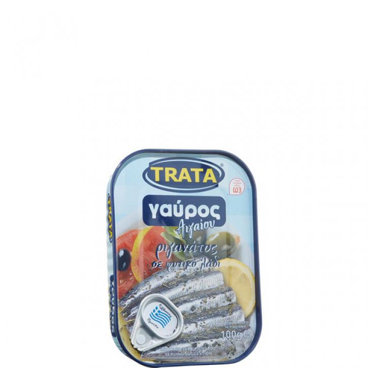 Sardellen mit Öl und Oregano (100g) Trata