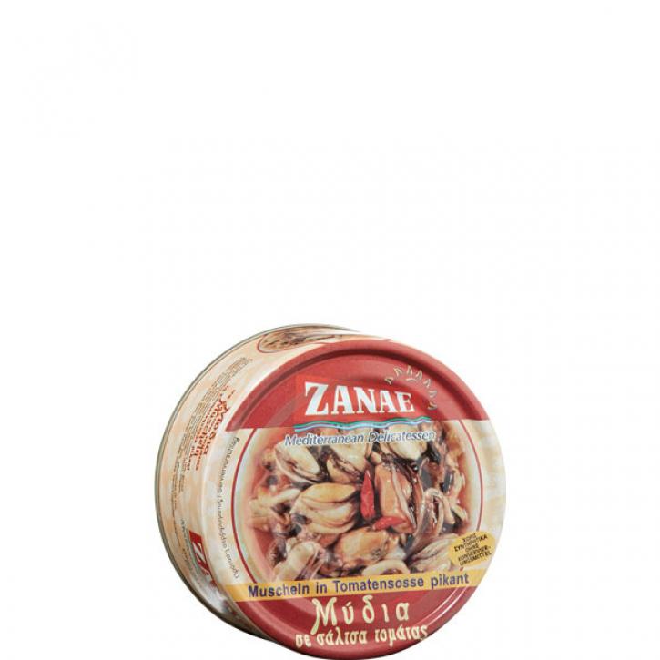 Muscheln in Tomatensauce pikant (160g) Zanae