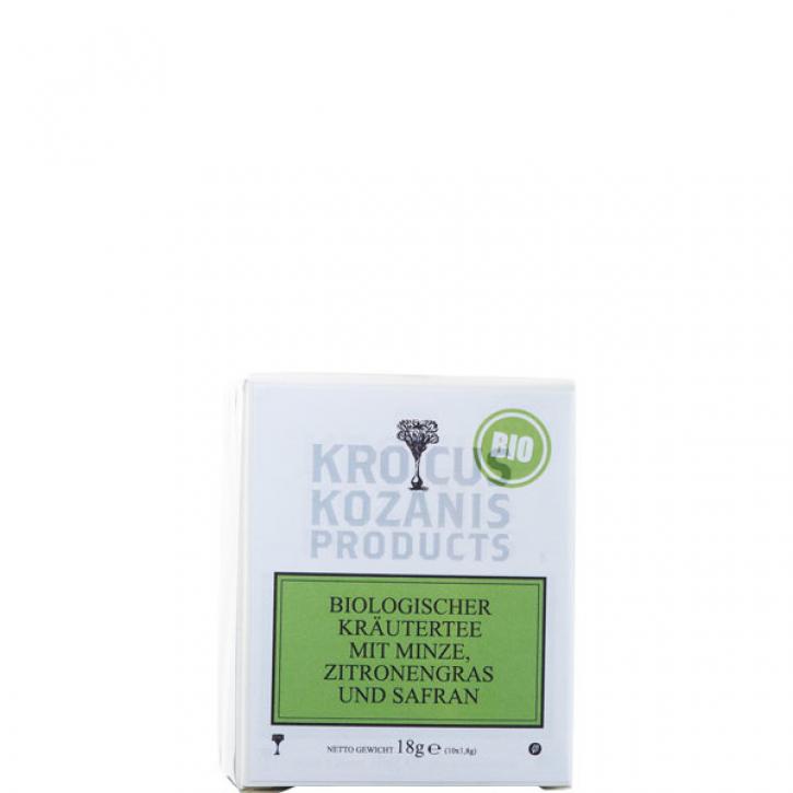 Tee mit Minze, Zitronengras & Safran BIO (18g) Kozani