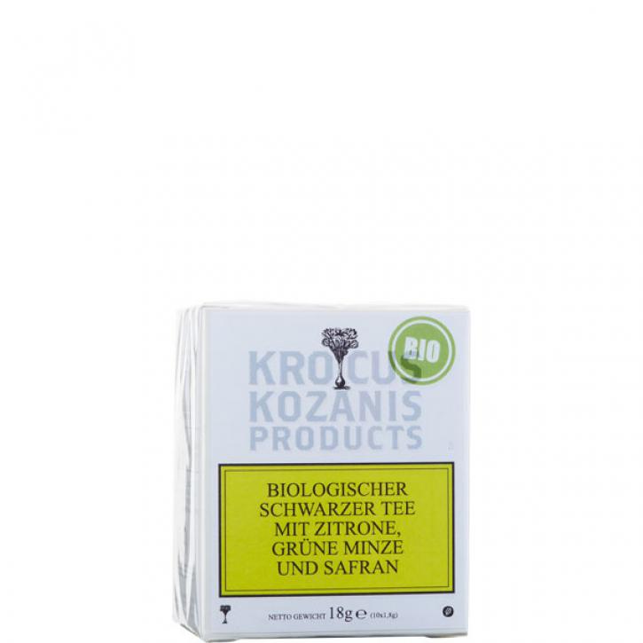 Tee schwarz mit Zitrone, Minze & Safran BIO (18g) Kozani