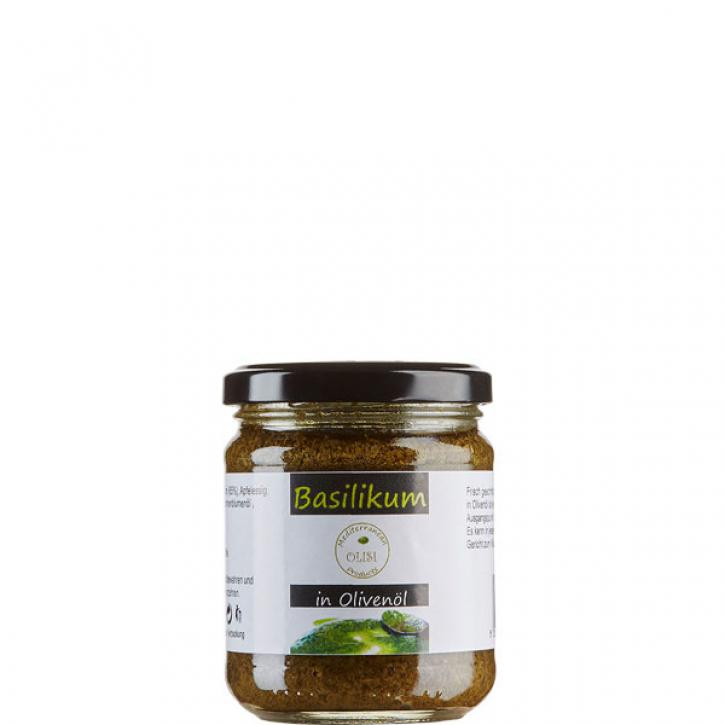 Basilikum in Olivenöl (200g) Olisi