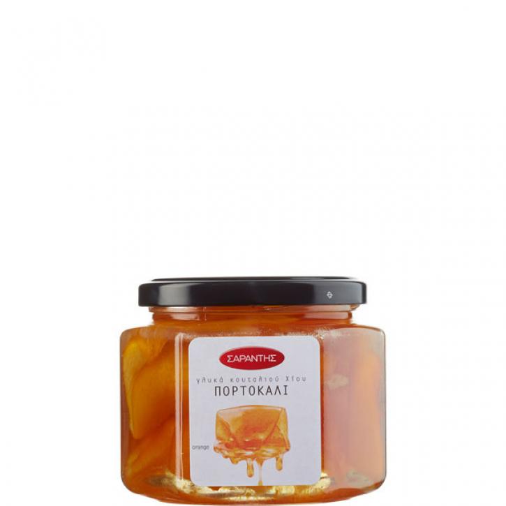 Orangenschalen eingelegt in Sirup (453g) Sarantis