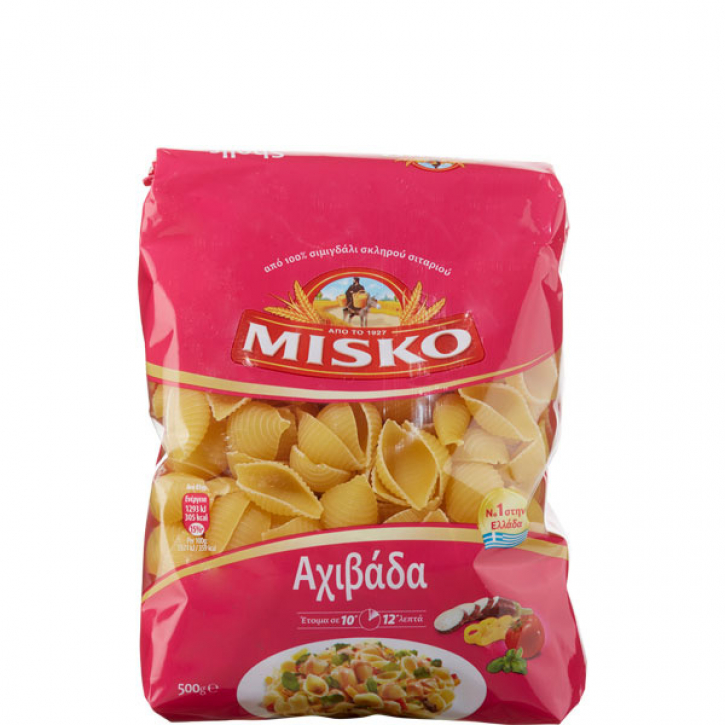 Nudeln Axibada Shells (500g) Misko