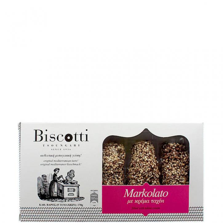 Markolato Röllchen mit Tahinipaste (170g) Biscotti