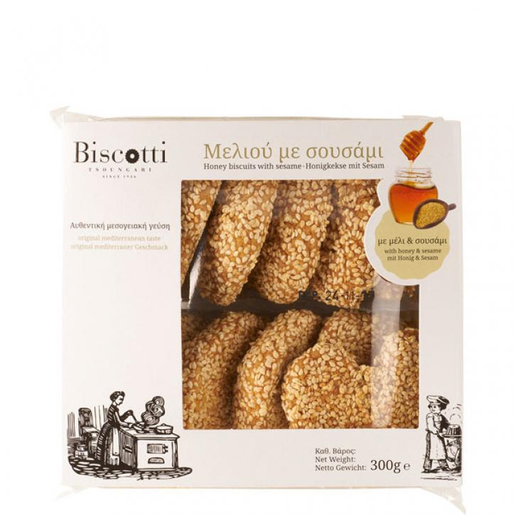 Honig Gebäck mit Sesam (300g) Biscotti
