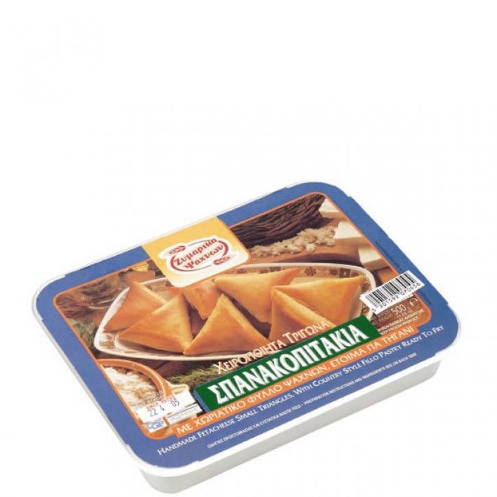 Filoteigtaschen gefüllt mit Spinat - Spanakopitakia Dreieckig (500g) Evoiki Zimi