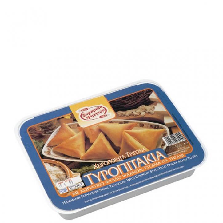 Filoteigtaschen gefüllt mit Käse - Tiropitakia Dreieckig (500g) Evoiki Zimi