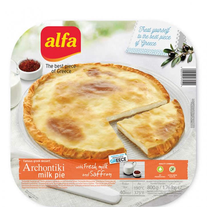 Pita Archontiki gefüllt mit Milch und Safran (800g) Alfa