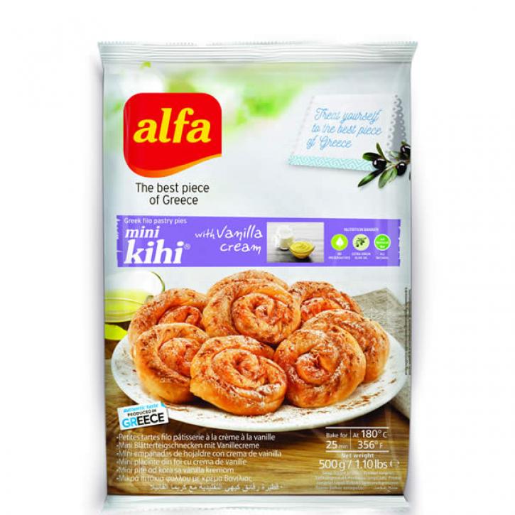 Pita Mini Kihi gefüllt mit Vanillecreme (500g) Alfa