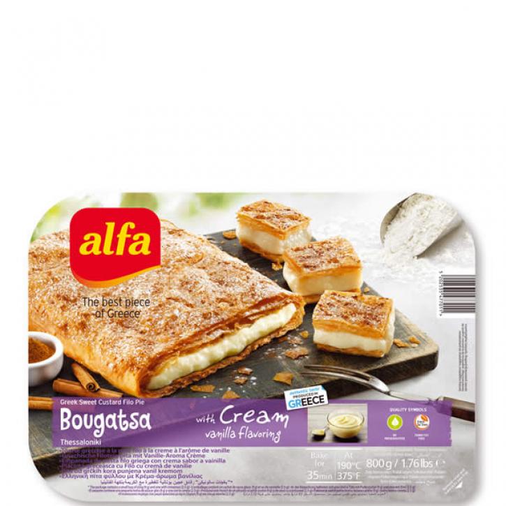 Bougatsa gefüllt mit Vanillecreme (800g) Alfa