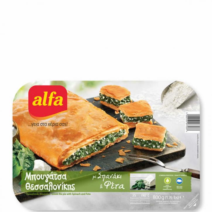 Bougatsa gefüllt mit Spinat und Käse (800g) Alfa
