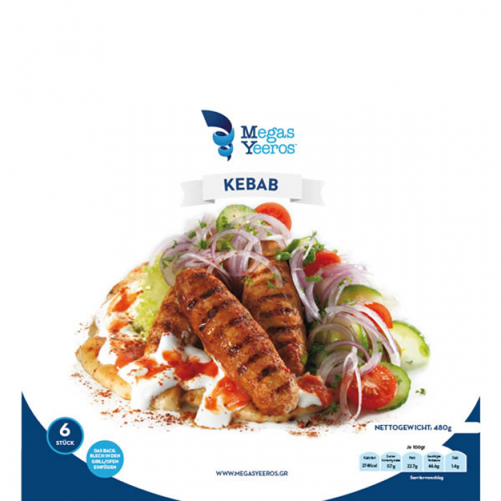 Kebab (480g) Megas Yeeros