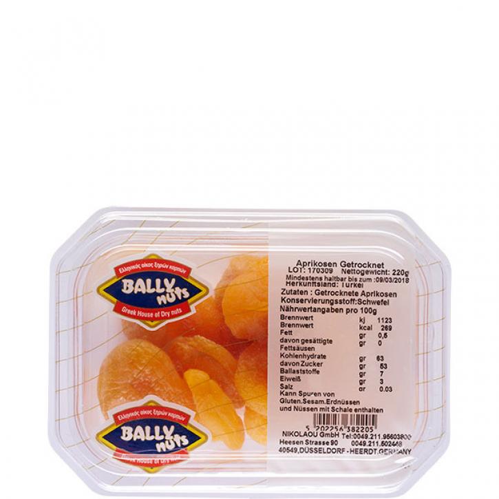 Aprikosen getrocknet (220g) Bally Nuts