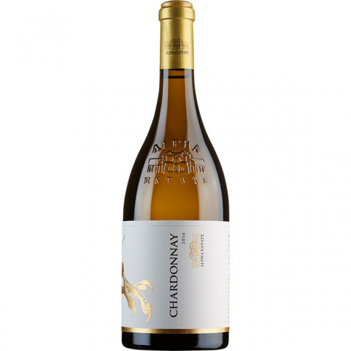 Chardonnay Weiß trocken (750ml) Alpha Estate