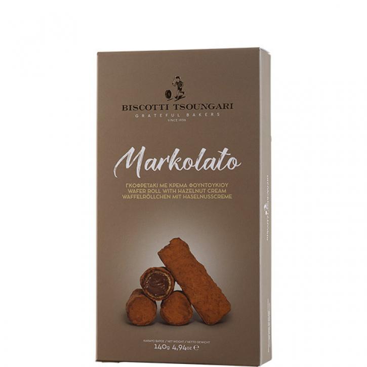 Markolato Röllchen mit Haselnusspaste (140g) Biscotti