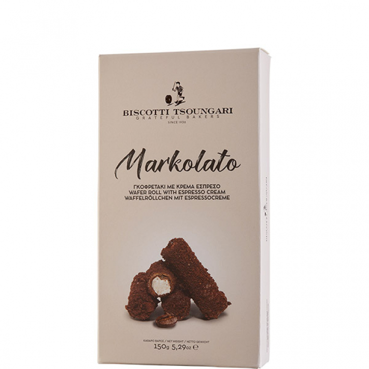 Markolato Röllchen mit Espressocreme (150g) Biscotti