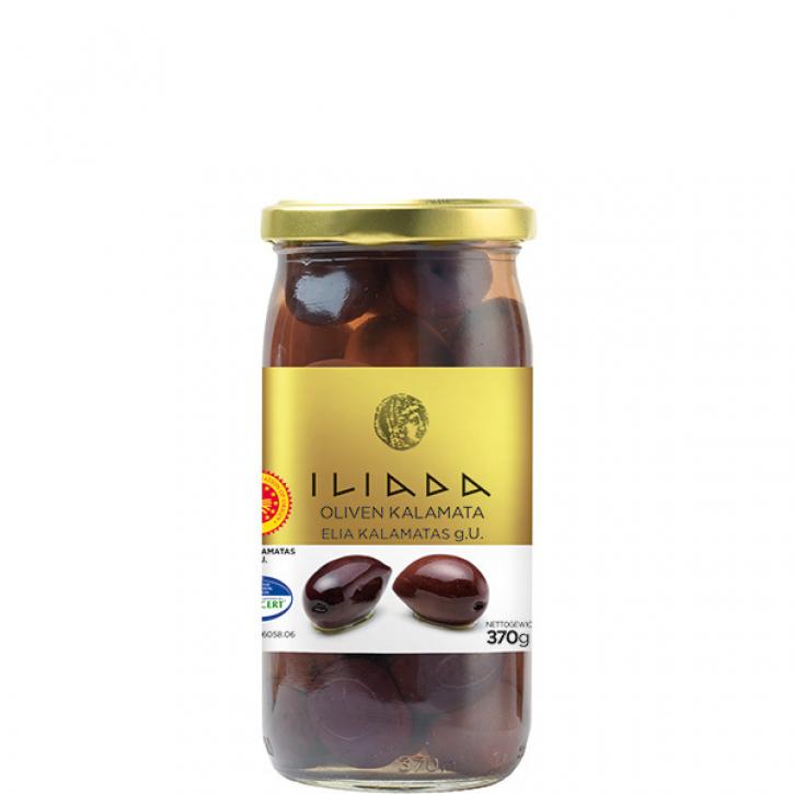 Oliven Kalamata schwarz Jumbo (370g) Agro Vim