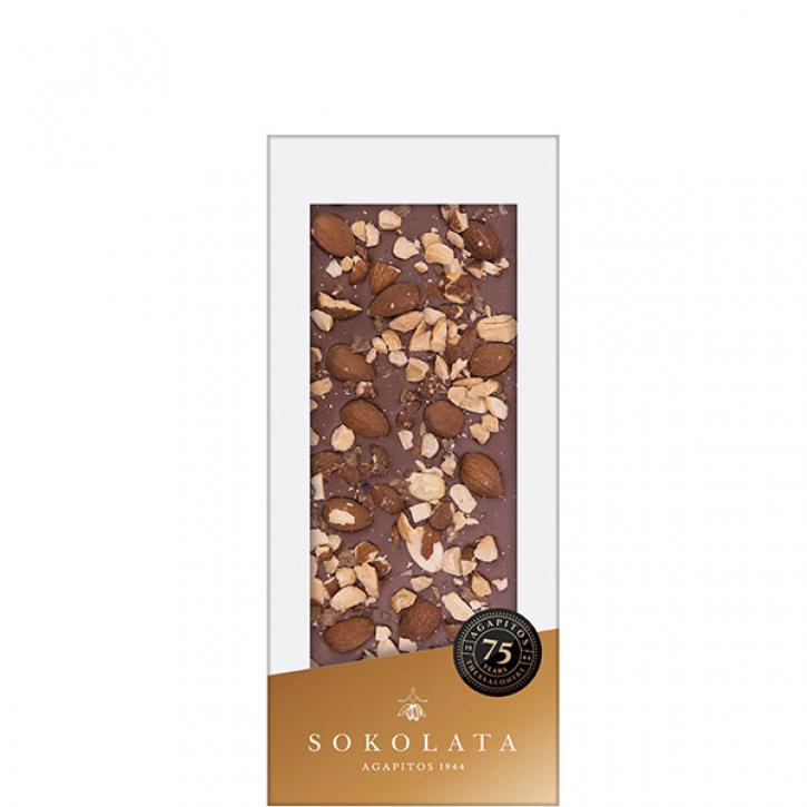Milchschokolade mit Mandeln (100g) Agapitos
