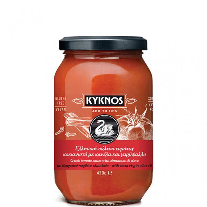 Tomatensauce mit Zimt und Nelke (420g) Kyknos