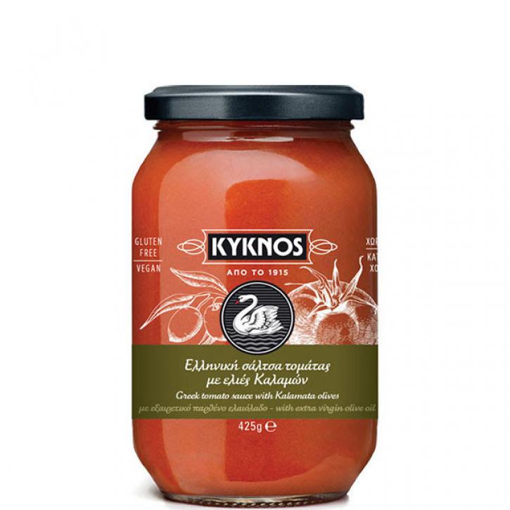 Tomatensauce mit Kalamata Oliven (350g) Kyknos