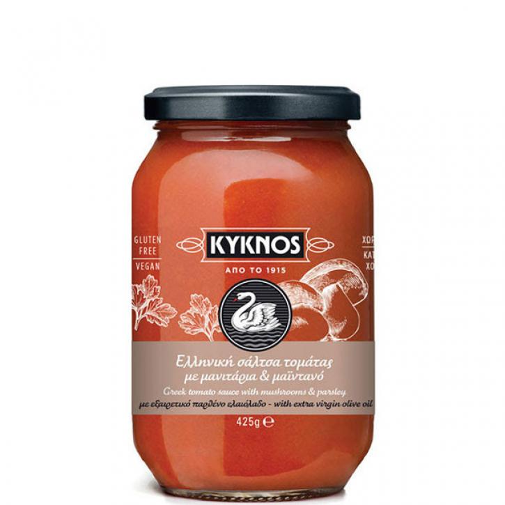 Tomatensauce mit Pilzen und Petersilie (425g) Kyknos