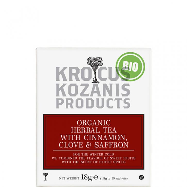 Tee mit Zimt, Nelke & Safran BIO (18g) Kozani