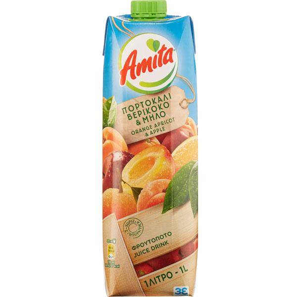 Orangen- Aprikosen- Apfel Fruchtnektar 50% (1000ml) Amita