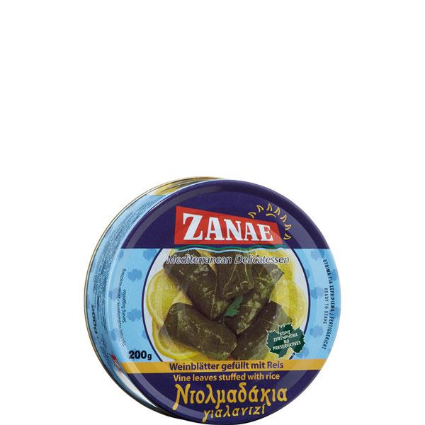 Weinblätter gefüllt mit Reis (200g) Zanae