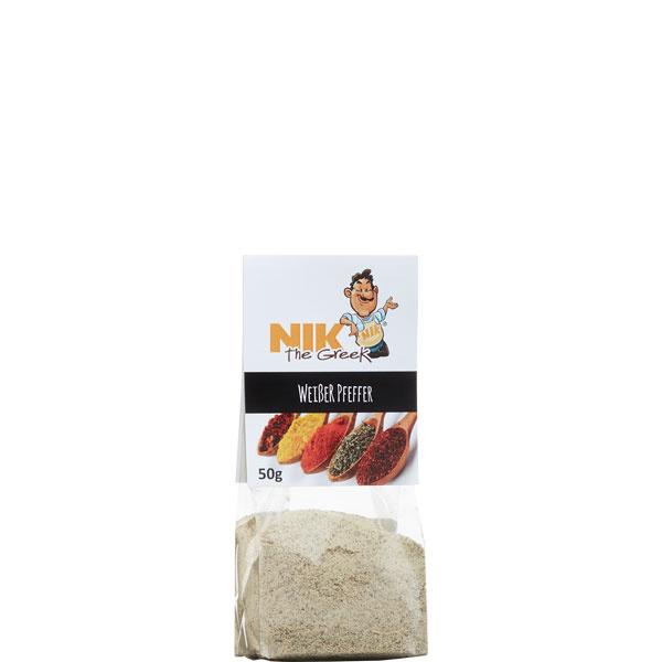 Pfeffer Weiß gemahlen (50g) NiktheGreek