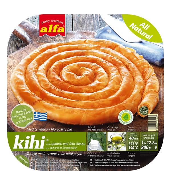 Blätterteigschnecke gefüllt mit Spinat und Käse (800g) Alfa