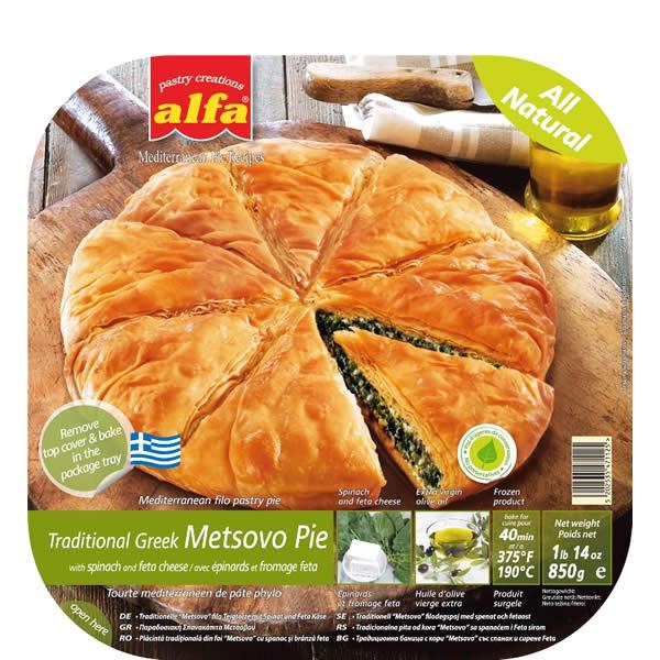 Pita Metsovo gefüllt mit Spinat und Käse (850g) Alfa