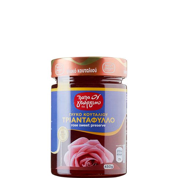 Rosenblumenblätter eingelegt in Sirup (450g) Papageorgiou